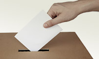 A photo of a ballot box