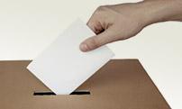 A photo of a ballot box